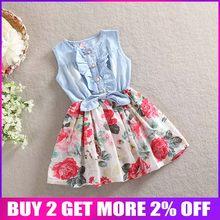 560a38a5240a9 Popular Toddler Floral Denim Dress-Buy Cheap Toddler Floral Denim ...
