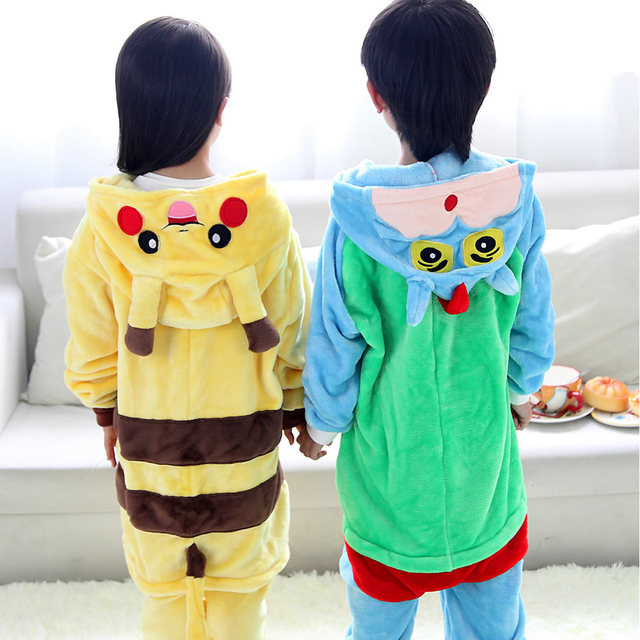Children Animal Onesie Pikachu Pajamas For Kids Halloween Cosplay Costume For Girls Boys Panda Pijama Infantil Menino