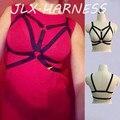 Punk harajuku jaula sujetador criss cross body harness arnés ajustable sujetador completo bondage pole dance trajes 90 s desgaste fetiche o0202