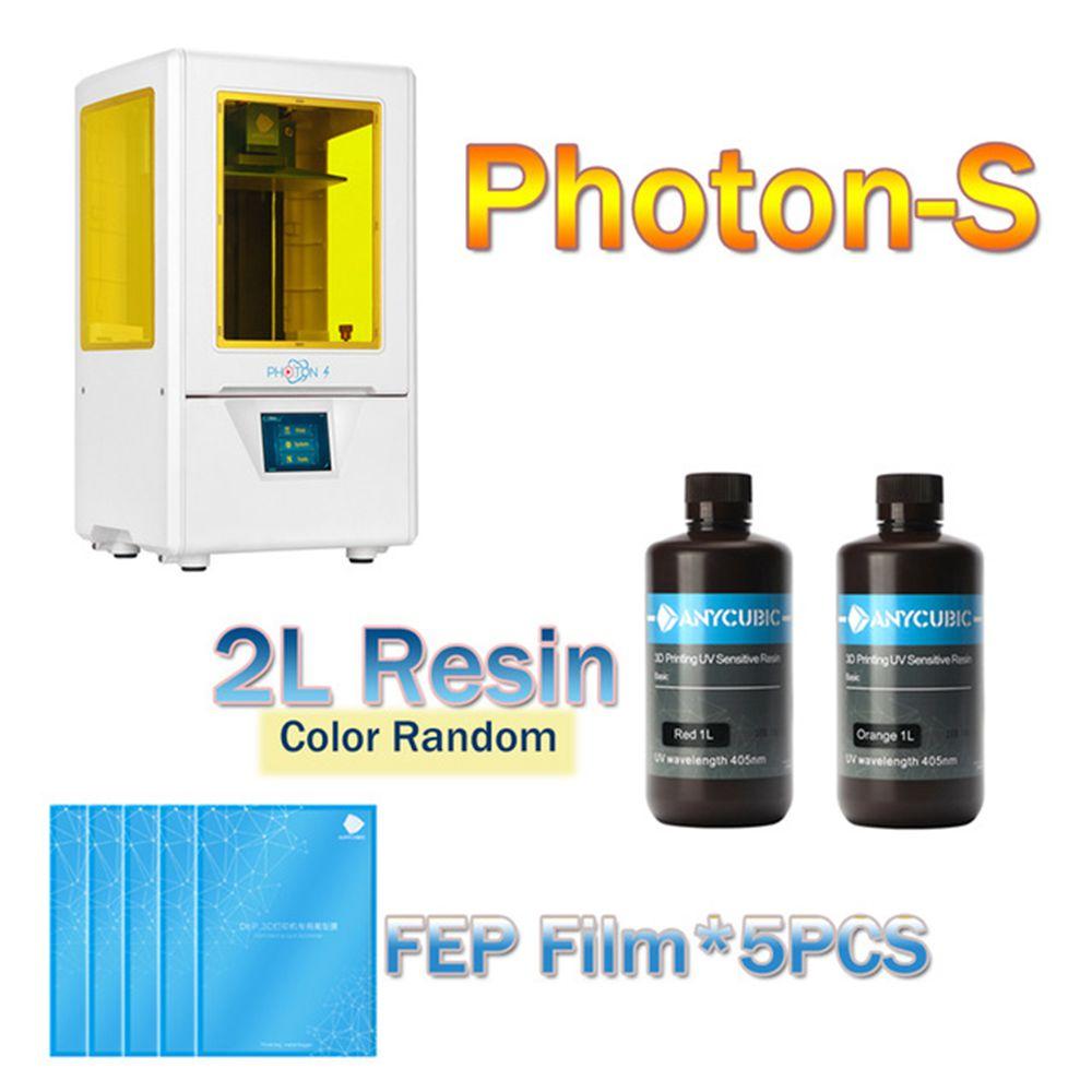 ANYCUBIC PhotonS 3D Printer Kit Newest UV Printer Mini LCD 3d Desktop DIY Printer SLA Upgraded