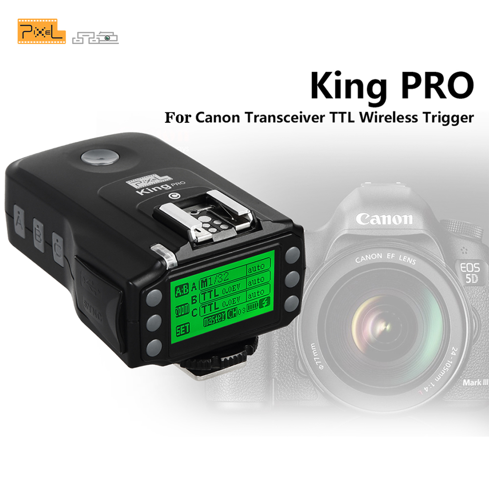 Pixel King PRO Transceiver 2 4G Wireless TTL High Speed Flash Trigger Transceiver For Canon 1100D