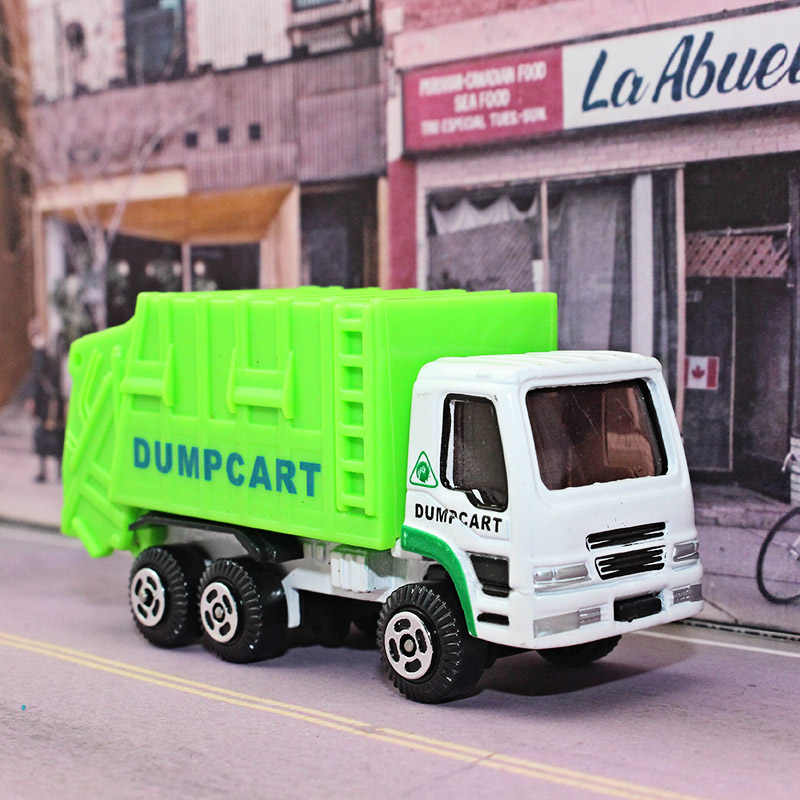 AL 1:64 Alloy car model Diecast Garbage truck Portable and compact model kids toys Give your child the best gift