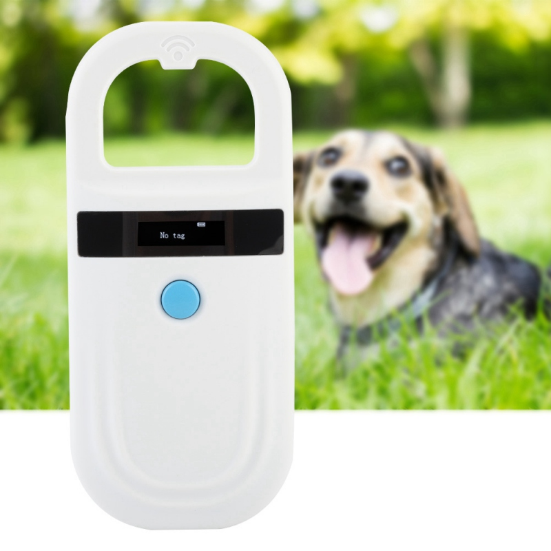 Scanner portatif d'identification de puce d'animal familier d'oled de lecteur de puce d'animal familier de FDX-B d'oin