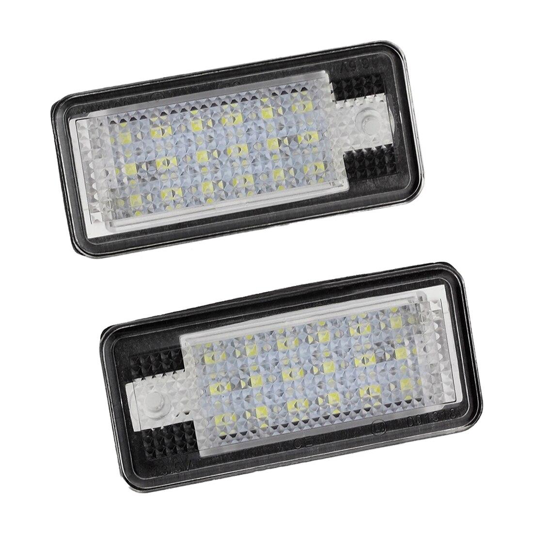 2x18 Número de Licença LED Placa Lâmpada Luz Para Audi A3 S3 A4 S4 B6 A6 S6 A8 S8 Q7