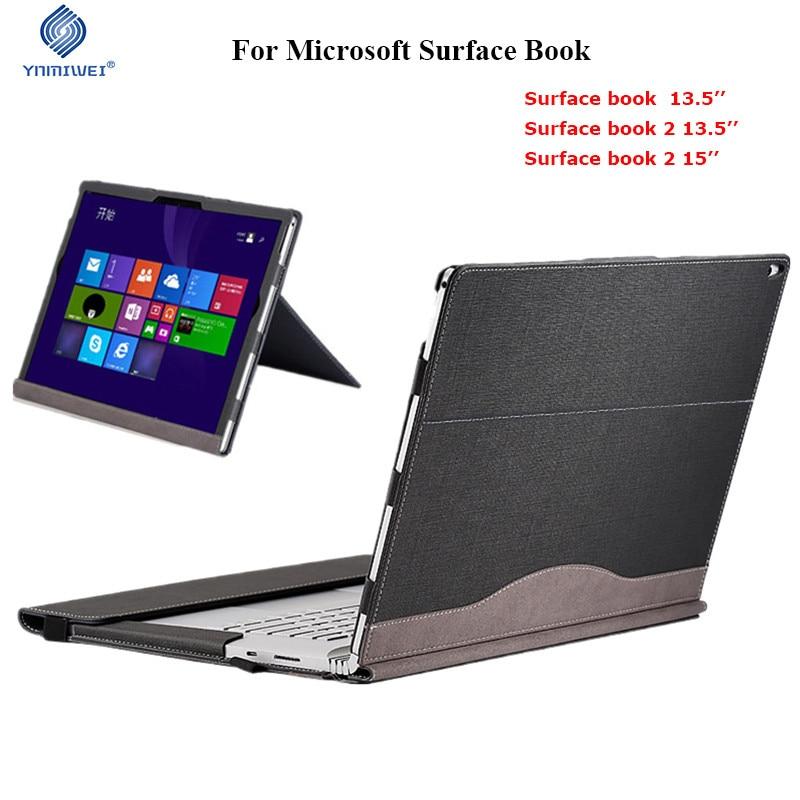 Couverture détachable pour Microsoft Surface Book 2 13.5 livre 2 15 pouces tablette pochette pour ordinateur portable Stand Case protéger pour Surface Book 13.5