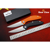 BEAR CLAW SIGMA Good Quality D2 Blade G10 Handle Flipper Folding Knife Outdoor Camping Hunting Pocke