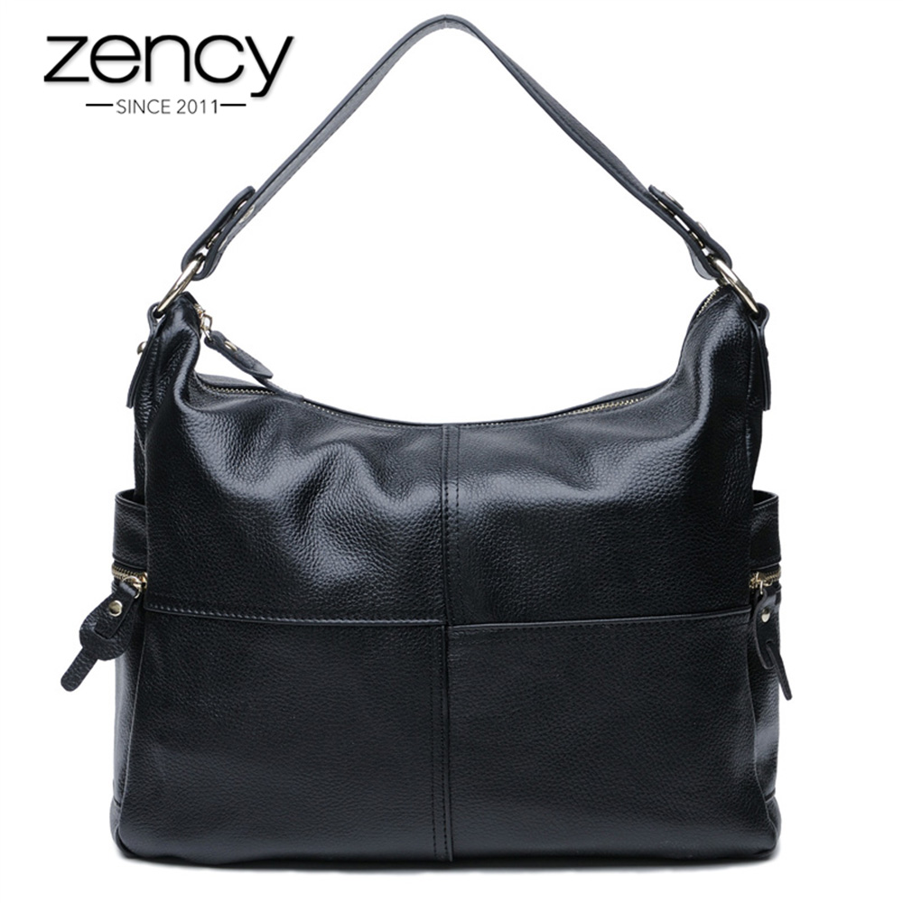 Zency Famous Brand Fashion 100% Genuine Leather Women Handbags High Quality Lady Messenger Shoulder Bags