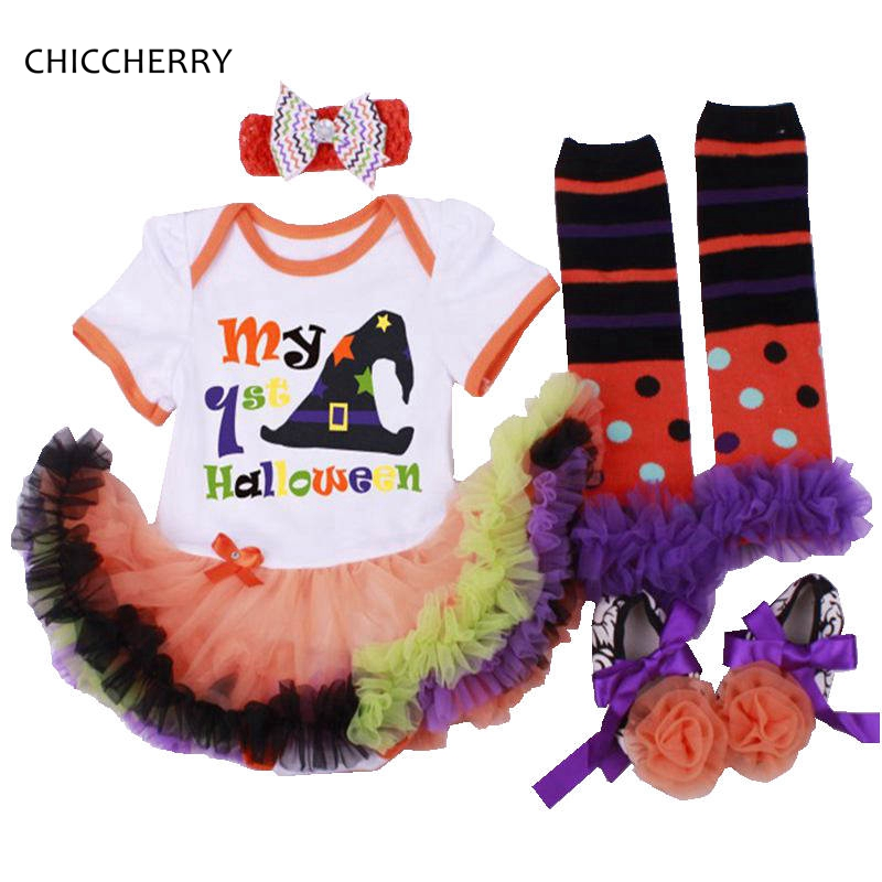 My 1st Halloween Costume For Baby Girl Kids 4PCS Newborn Tutu Sets Baby-Clothes Infant Clothing Girls Halloween Costume Outfits winter infant kids baby boy girl clothes sets costume newborn baby clothing sets toddler bebes outfits pajamas wear sport suits
