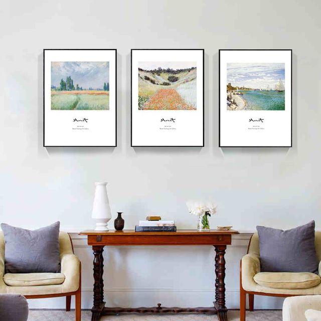 Europe Monet modern minimalist living room decorative painting