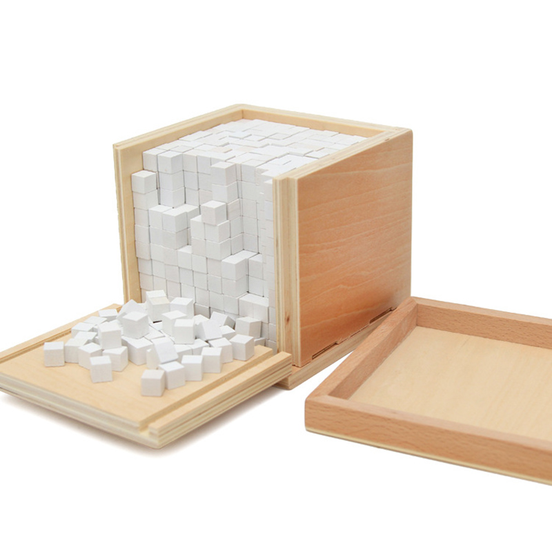Baby Toy Montessori Volume 1000 Cubes For Early Childhood Education Preschool Training Kids Toys Brinquedos Juguetes TK0129 baby toy montessori sensorial toys 1 lot 8 pieces early childhood education preschool training kids toys brinquedos juguetes