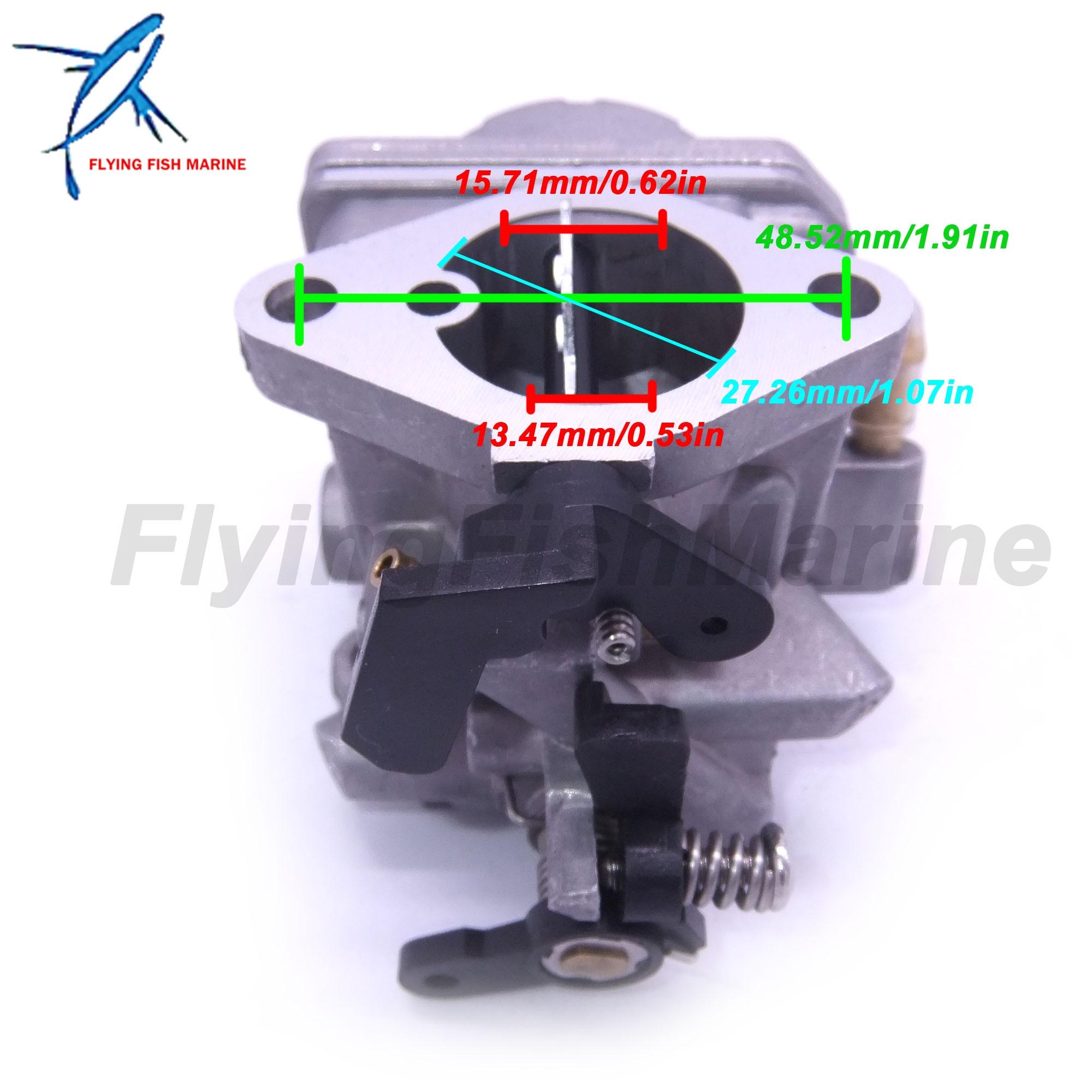 Image 4 - 3JE 03200 0 3JE032000 3JE032000M Outboard Motor Carburetor Assy  for Tohatsu Nissan 4 stroke 6HP MFS6C NFS6C Boat EngineBoat Engine   -