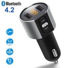 Bluetooth fm-передатчик Беспроводной в Автомобильный MP3-плеер передатчик Bluetooth Радио fm-передатчик с Dual USB порт для смартфонов