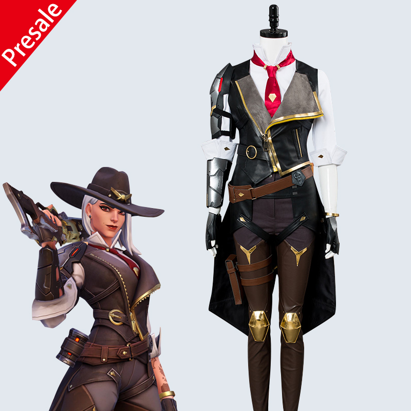 OW Overwatch Hero Ashe Cosplay Costume Full Set For Adult Women Costumes For Halloween