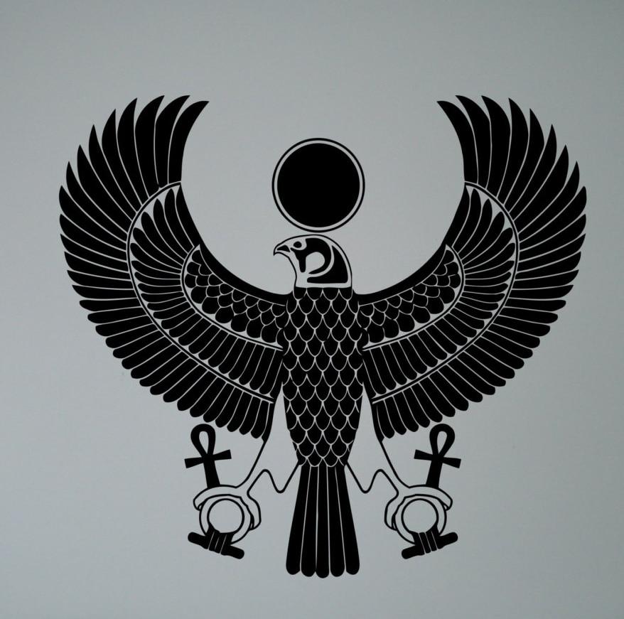 Buy egyptian symbol wall sticker scarab for Mural egipcio