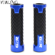 CNC Motorcycle handlebar grip handle bar Motorbike handlebar grips For SUZUKI GSR750 GSR 750 2011-2016 GSR 600 GSR600 2006-2011 8 colors cnc motorcycle brakes clutch levers for suzuki tl1000s 1997 2001 tl 1000s gsr600 gsr 600 2006 2011 free shipping
