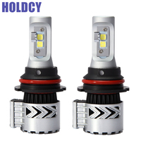 HoldCY 9007 LED Car Headlight Hi-Lo Beam Bulb 72W 12000LM Auto Head Lamp DRL Fog Lamps Car LED Headlights Conversion Kit 12V