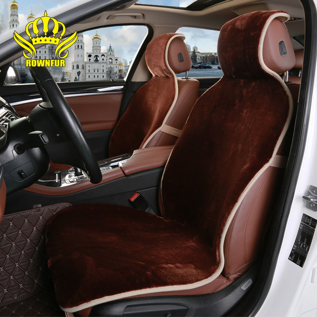ROWNFUR Brand fur car seat cover Universal Fit Most Cars Covers 5 colors short faux Wool Luxury Comfortable and warm in winter