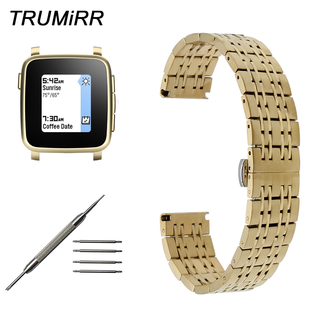 22Mm Stainless Steel Watch Band For Pebble 1 1St Gen -6061
