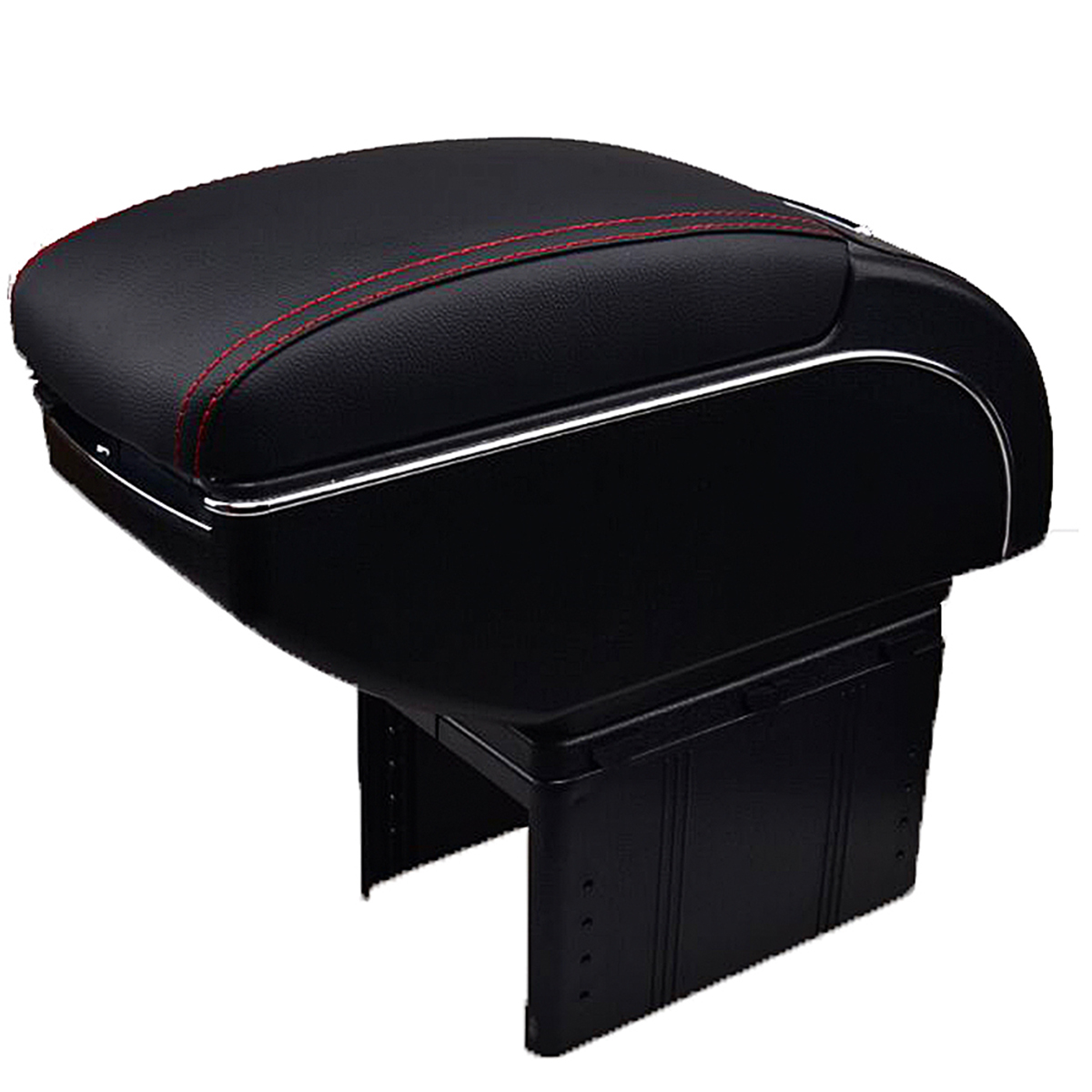 Universal Leather Car Armrest Central Store Content Storage Box with Cup Holder Center Console Armrests Free Shipping