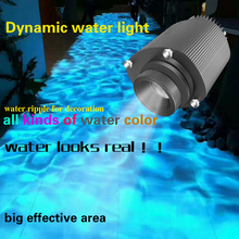 Blue ocean waterproof LED projector Stage Light Create a Water Wave Ripple Effect atmosphere Laser Projection for Party Show 9w 16 colors rgb led water wave ripple effect stage lighting christmas party dj show pattern laser projector ocean wave light