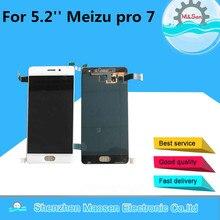 """M & Şen 5.2 """" Meizu Için pro 7 LCD ekran ekran + Dokunmatik panel Digitizer beyaz/Siyah Ücretsiz nakliye"""