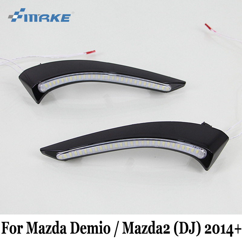 SMRKE DRL For Mazda Demio 2 Mazda2 DJ 2014~Present / Car LED Daytime Running Lights / Day Driving Lamp Car Styling Free Shipping цена