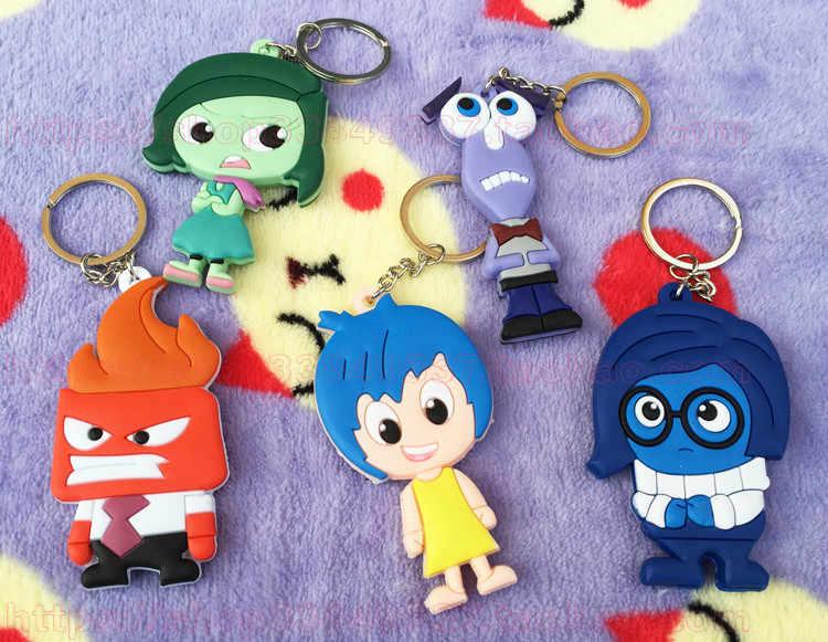 Ivyye 1 Pcs Inside Out Seri Anime Gantungan Kunci PVC Gambar Gantungan Kunci Lucu Mainan Kunci Gantungan Kunci Hadiah Ulang Tahun Unisex Baru