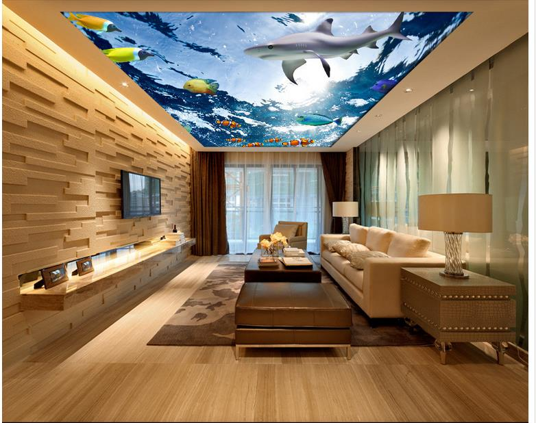 Underwater World Marine Life Dolphin 3d Wallpaper Living Room Non