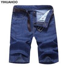 8d738afdd YIHUAHOO Casual Denim Pantalones cortos de algodón de los hombres vaca Niño  Pantalones vaqueros pantalones cortos Stlish Slim Fi.