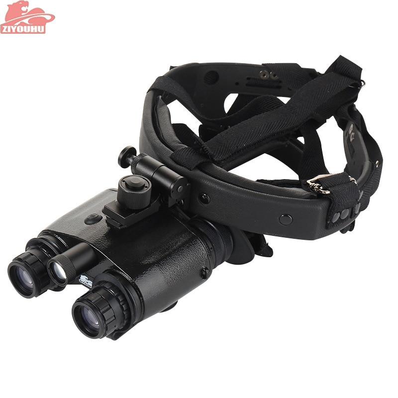 ZIYOUHU 1X24 Generation 1 Nachtsicht Fernglas Brille NVMT Kompakte Kopf Halterung für Jagd Taktische Schwarz Kopf- montiert