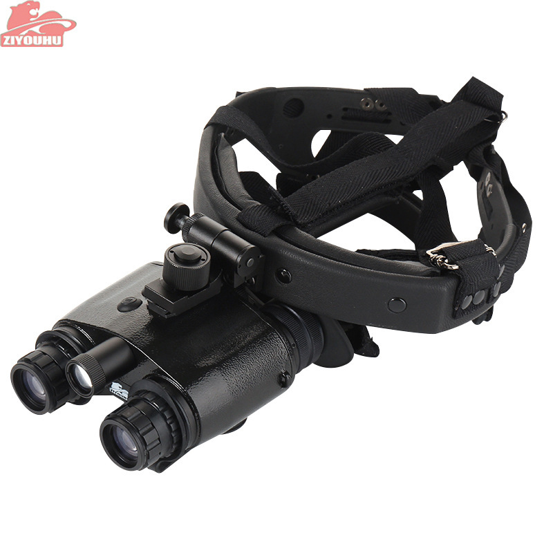 ZIYOUHU 1X24 Generation 1 Night Vision Binoculars Goggles NVMT Compact Head Mount for Hunting Tactical Black Head-mounted
