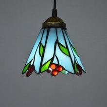 Tiffany lamps fashion fresh bedroom rustic pendant light balcony aisle lights dream red fruit