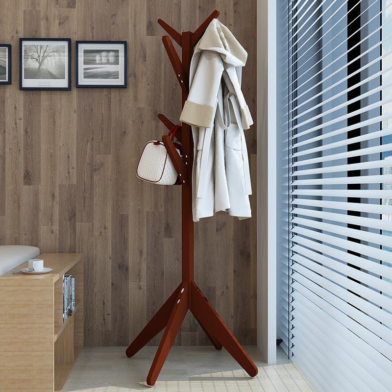 2019 Mode Moderne Hoed Rek Massief Houten Boom-vormige Kleerhanger Eenvoudige Kleerhanger Stands Shelf Kledingstuk Rack Voor Slaapkamer 60*175 Cm Winst Klein