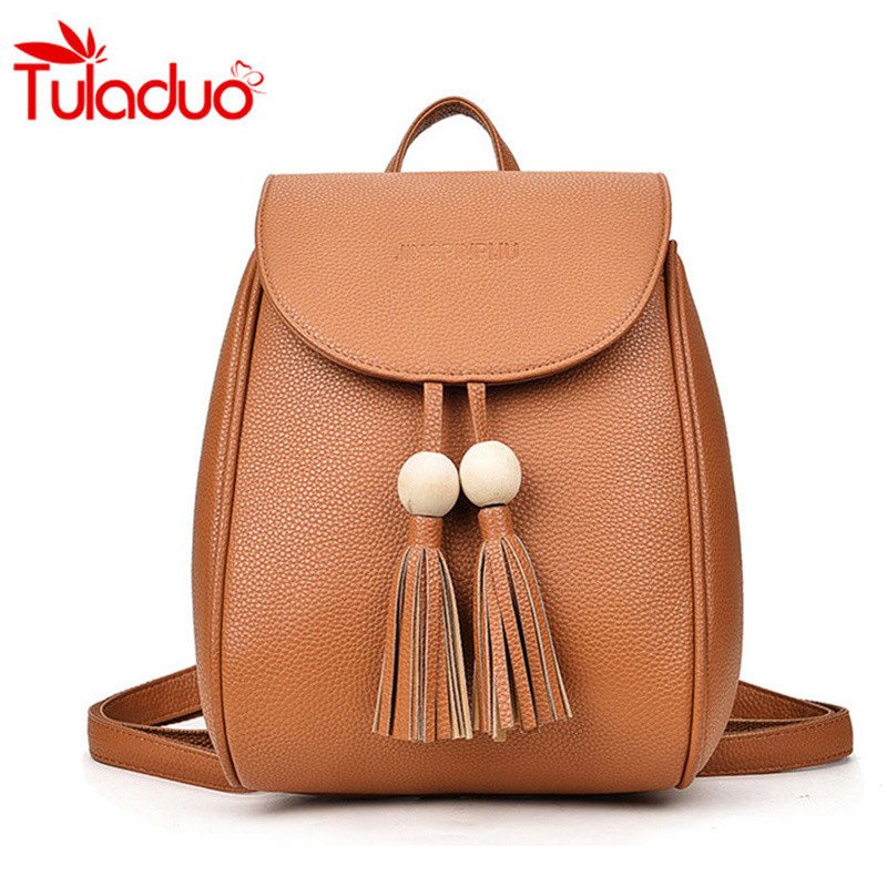 Women PU Leather Backpack Bag For Girl Casual School Bags For Teenagers Sac A Main Rucksack Women's Backpacks Mochila Back Bag dida bear brand women pu leather backpacks female school bags for girls teenagers small backpack rucksack mochilas sac a dos