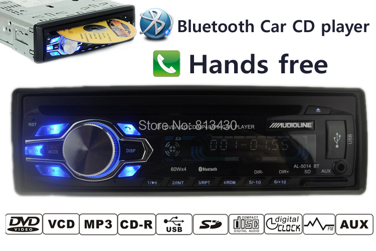 New arrival font b Car b font radio 12V cd mp3 player audio dvd bluetooth answer