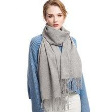 9c9257a1c701 Tnine marca mujeres bufanda de lujo Soild Otoño Invierno bufandas de  cachemira más cálido Pashmina mantón largo Wraps Bandana .