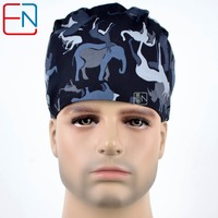Hennar Brand Home Medical OR Skull Scrub Caps Surgical Surgeon S Surgery Hat In Black