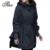 La manera de señora winter clothing tamaño grande m-4xl espesar lana chaqueta de calentamiento 2017 cremallera con capucha capa ocasional de las mujeres