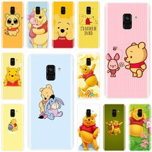 ute cartoon Winnie the Pooh Soft Silicone TPU Phone Case For Samsung Galaxy A5 A7 A8 2015 A3 A5 A7 A8 2016 A3 A5 A7 2017 A9 pro(China)