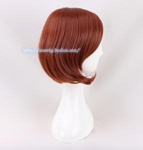 Image 2 - Anime Helen Parr Elastigirl peruka z krótkim bobem Cosplay peruki dla kobiet + czapka z peruką