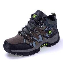 High Tops Winter Hiking Shoes Men Outdoor Sports Shoes Training Climbing Trekking Sneakers Tenis Masculino Esportivo Non-Slip