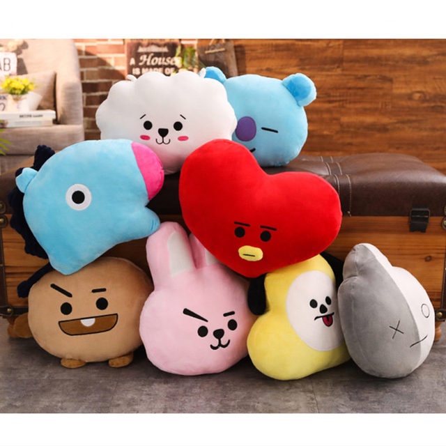 3f4ab02da487 40CM KPOP BT21 ARMY VAN SHOOKY COOKY TATA CHIMMY SHOOKY Pillow Stuffed  Plush Doll Cushion Hugging