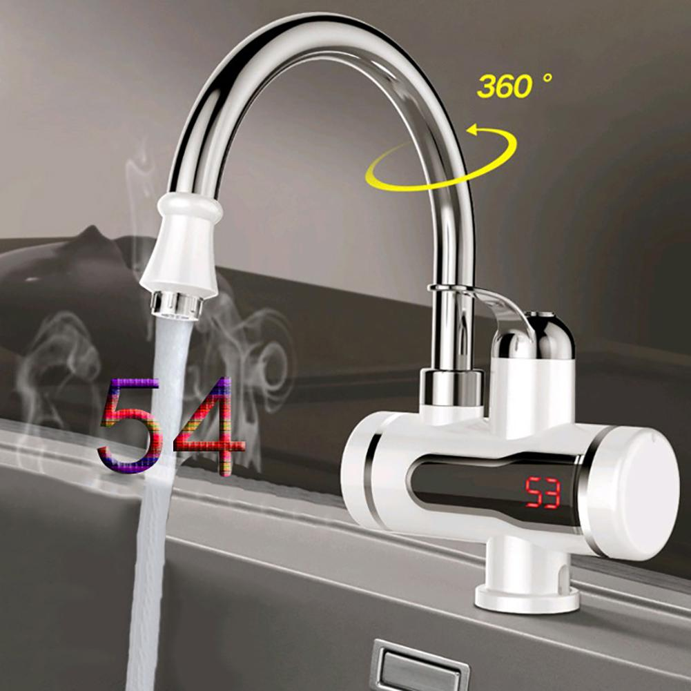 Home 220V 1500W Kitchen Faucet Tankless  Instant Hot Electric  Water Heater Tap LED Digital Display