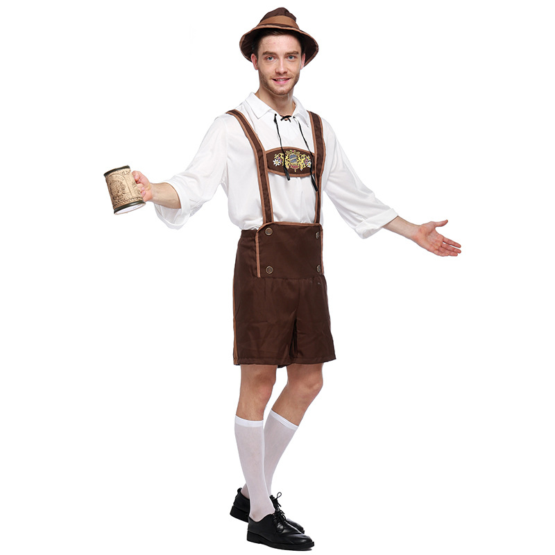 Traditional Oktoberfest Clothes Men German Beer Clothing Suit Halloween Male Cosplay Outfits Bavarian Beer Festival Costume