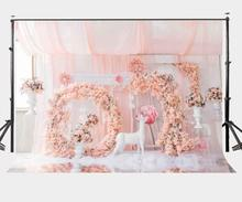 150x210cm Romantic Rose Backdrop Millennial Pink Photography Background Wedding Party Photo Video Studio Props