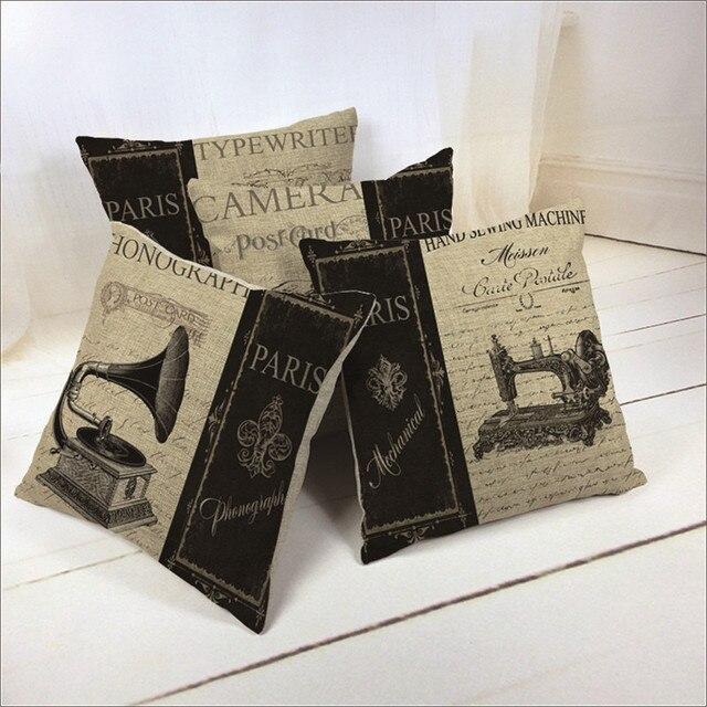 Vintage Style Decorative Throw Pillows Case Sewing Machine Enchanting Sewing Decorative Throw Pillows