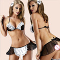 SZ018 Hot 2014 Ladies Sexy Lingerie hot Sheer Impertinente Maid cospaly Uniforme lingerie sexy Outfit lingerie erótica trajes sexy