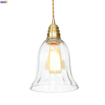 IWHD Nordic Copper LED Pendant Light Fixtures Dinning Living Room 4W Modern Glass Pendant Lamp Hanging Lights Lampara Colgante post modern art gold copper pendant lights lighting nordic luxury decorative kithcen hanging lamp dinning room light fixtures