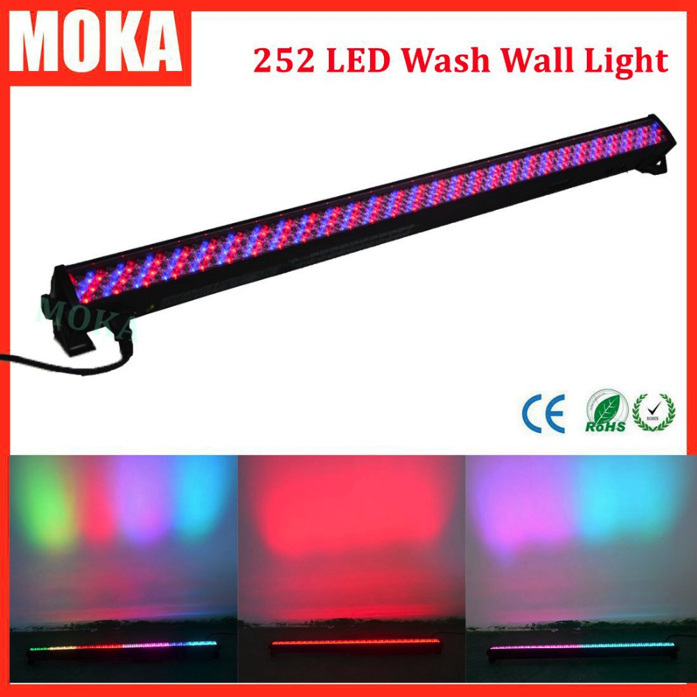 252*10MM LED Wash Wall Light RGB DMX512 City Color Lights for Indoor Stage Lighting Floodlights