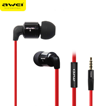 Awei ES600i Sport Headphone With Microphone Mic Headset In-ear Earphone For Your In Ear Phone Bud iPhone Samsung Earbud Earpiece